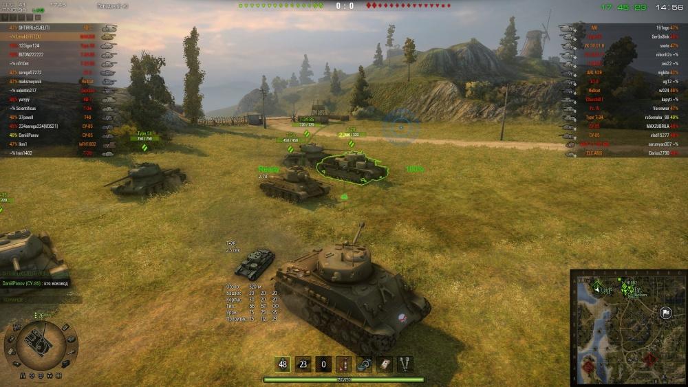 Горячие кнопки в World of Tanks