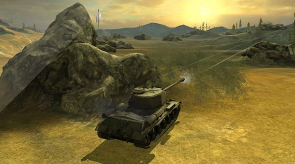 Игра World of Tanks Blitz на планшете