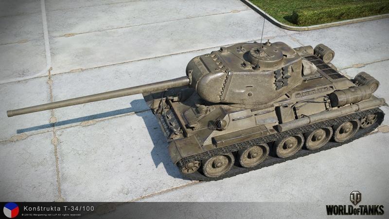 Konstrukta T-34/100 в WoT
