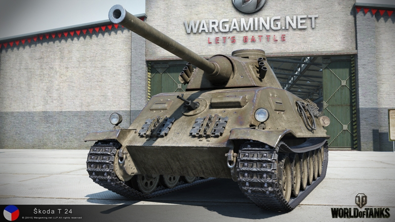 Skoda T-24 в игре