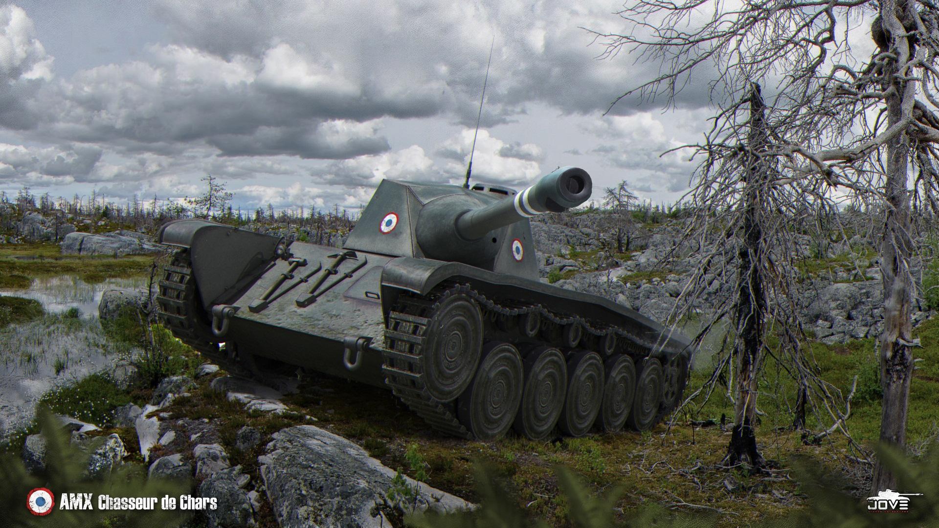 Особенности и преимущества танка AMX chasseur de chars