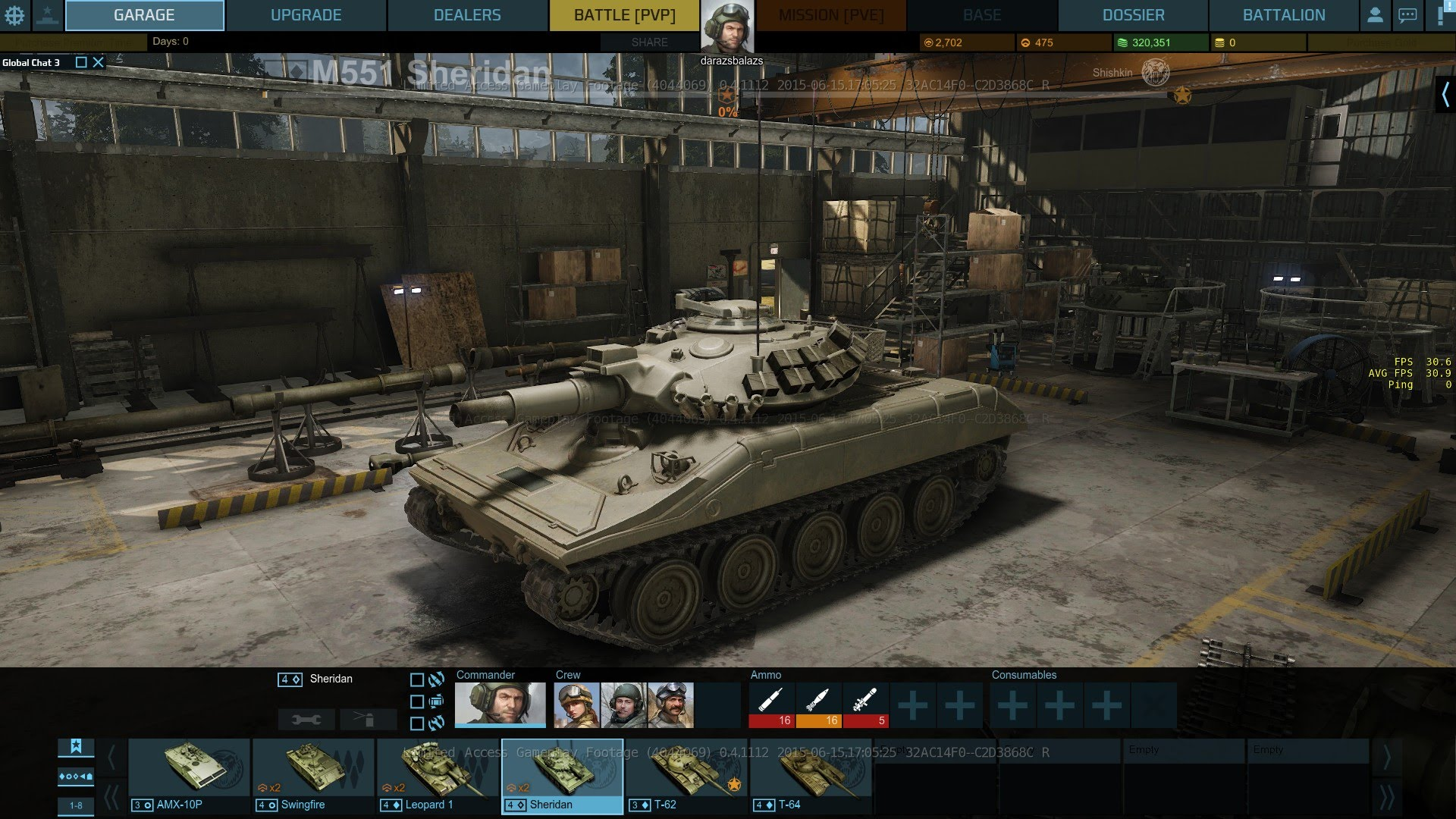 Танк Sheridan в Armored Warfare