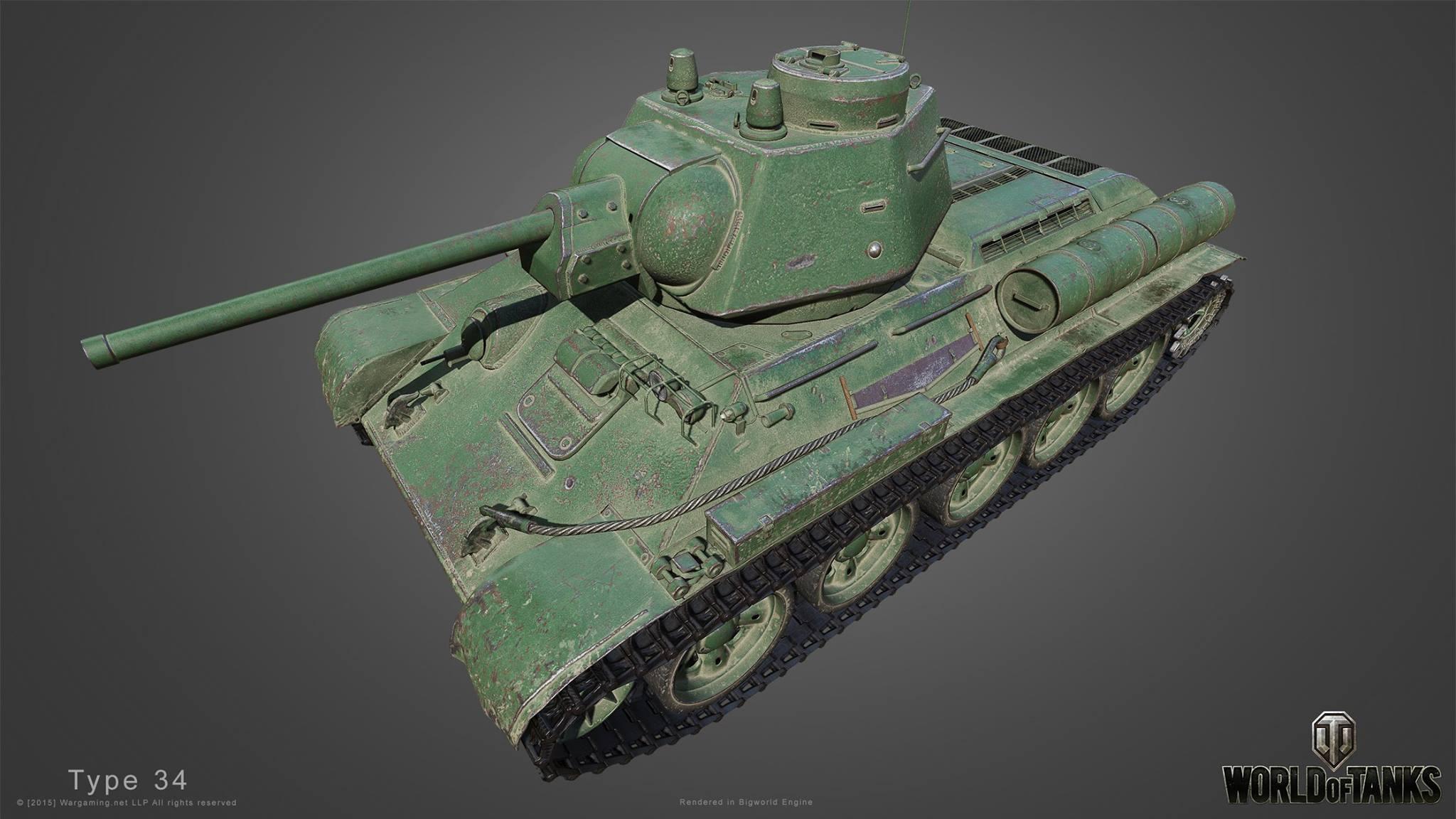 Танк Type T-34 в WoT