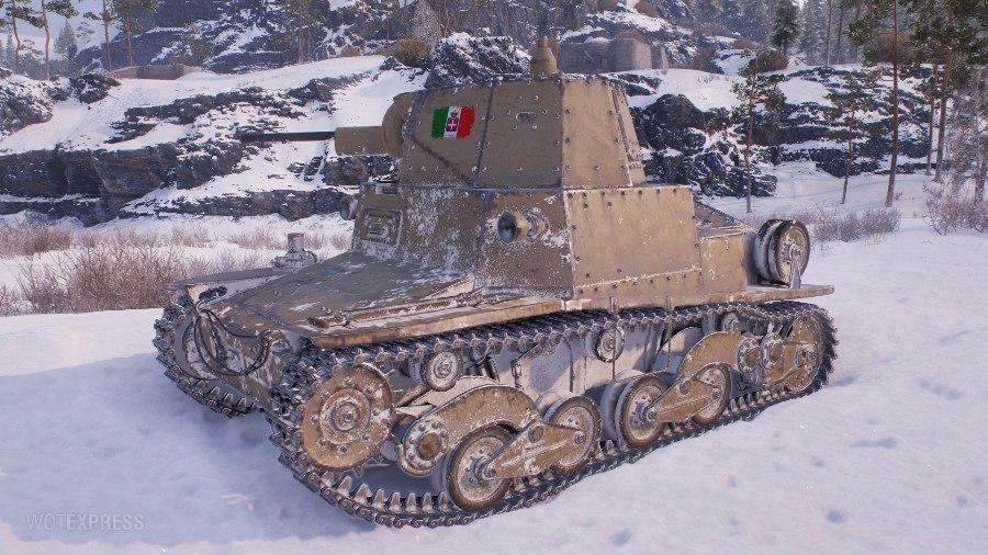 Итальянский танк 2 уровня
