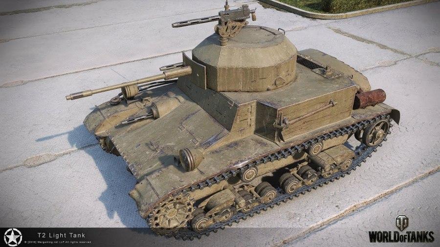 Танк T2 Light Tank в WoT