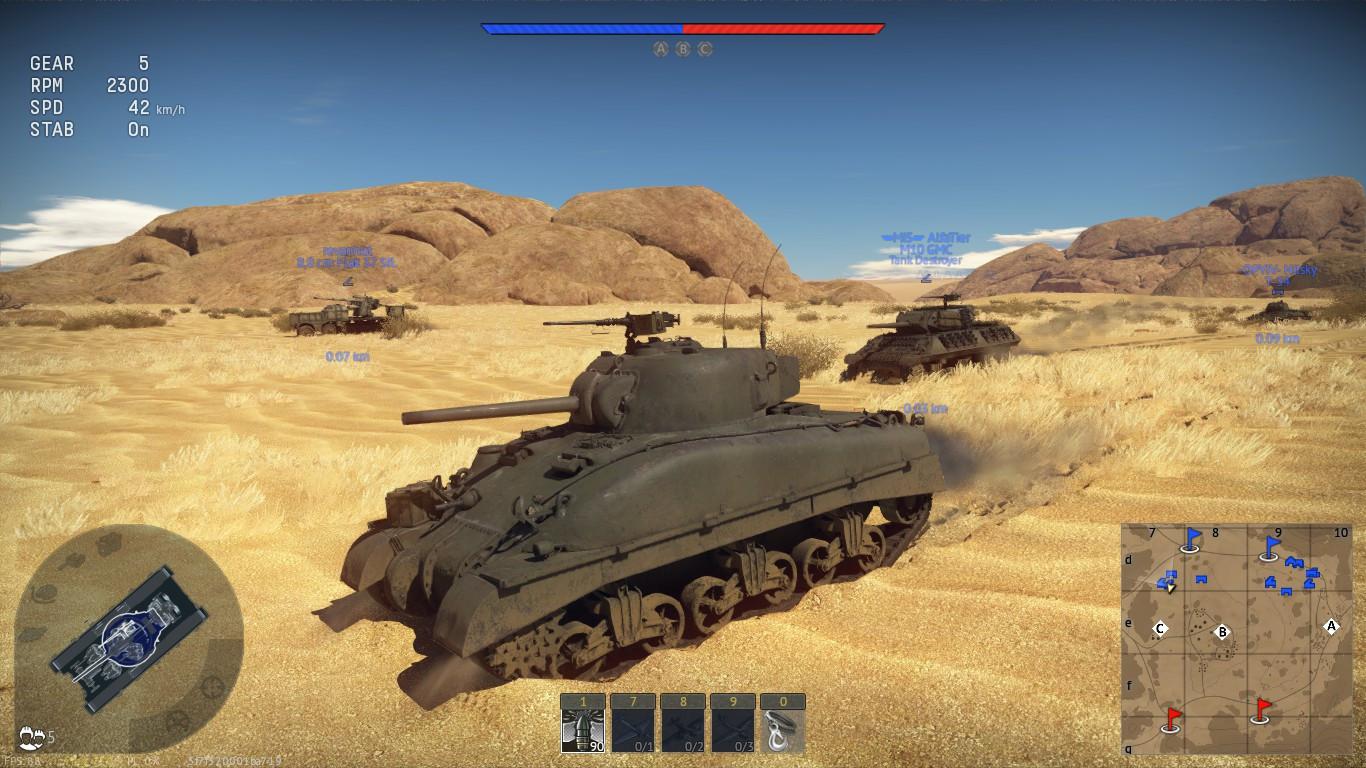 Бои на танках в War Thunder