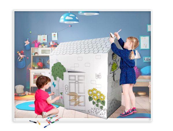 Картонный домик для игр и обучения